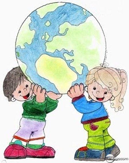 Desenho-de-crianças-levantando-globo-terrestre