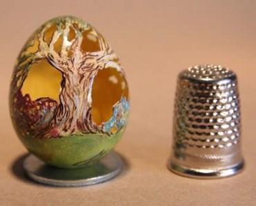 Inacreditáveis esculturas em ovos