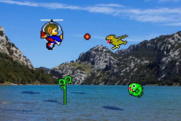 guerrilha nerd games virtual real Alex Kidd in Miracle World Helicopter