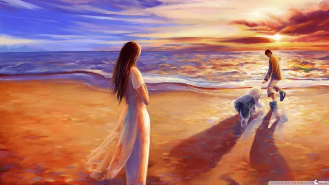 walk-on-the-beach-painting-106354