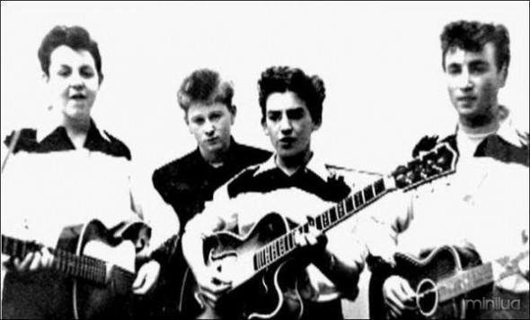 Los Beatles en sus inicios.