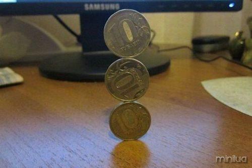 moedas de equilíbrio