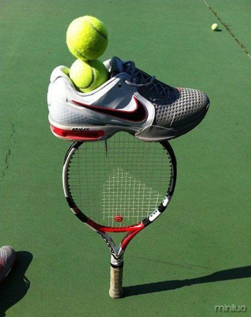 balanceamento de equipamentos de tênis