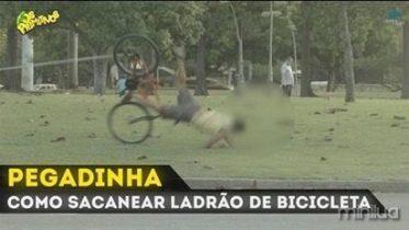 pegadinha COMO SACANEAR LADRÃO DE BICICLETA
