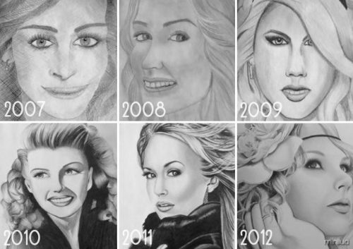 My Drawing Progress 2007 - 2012