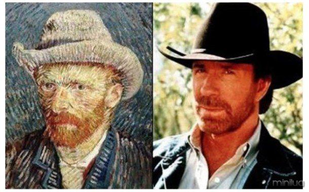 loffee.com Celebrity-Time-Travelers-Chuck-Norris-Vincent-Van-Gogh