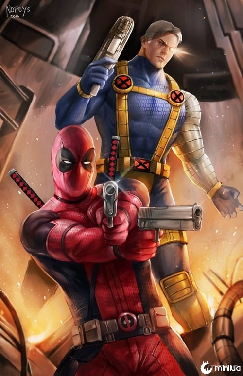 deadpool_and_cable_by_nopeys-d9xfwpv