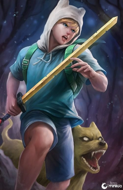 finn_and_jake_by_nopeys-d9wac89