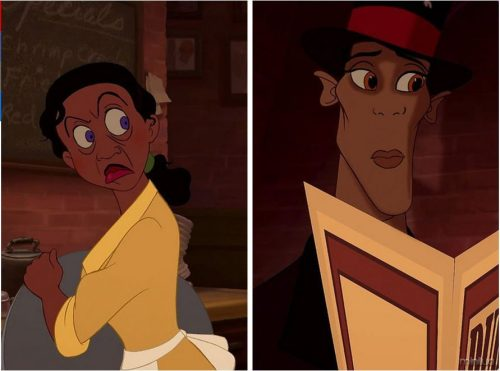 Tiana and Dr. Facilier
