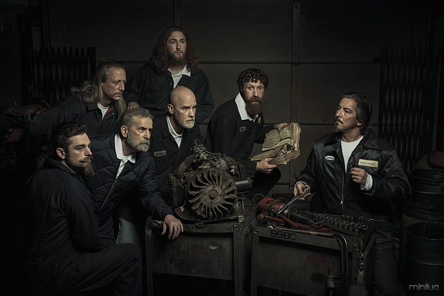 renaissance-paintings-recreated-auto-mechanics-photography-freddy-fabris-5