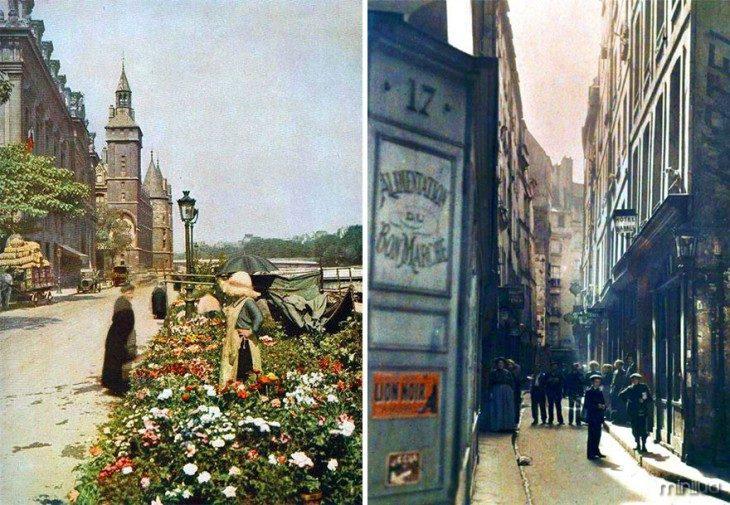 fotografias das ruas de Paris em 1914