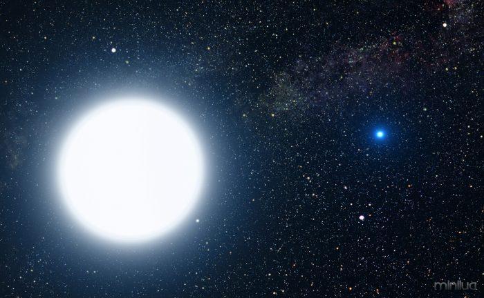 Artist's impression of a white dwarf star in orbit around Sirius (a white supergiant). Credit: NASA, ESA and G. Bacon (STScI)