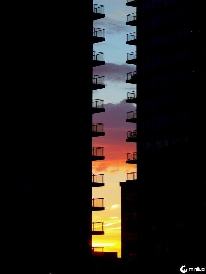 Níveis de pôr do sol