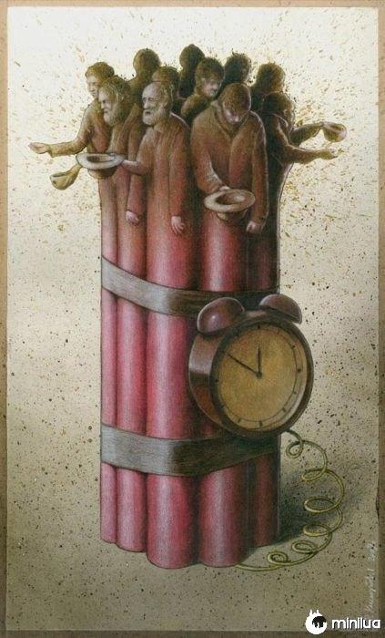 pobres ilustração tempo satírico bomba