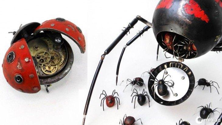 inseto joaninha feita de lixo Igor Verniy