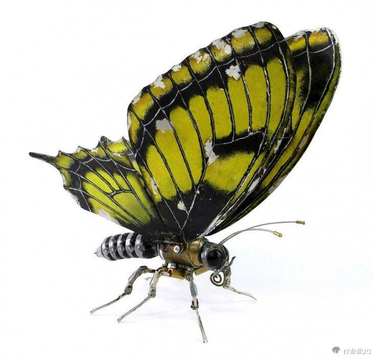 borboleta feita de lixo Igor Verniy