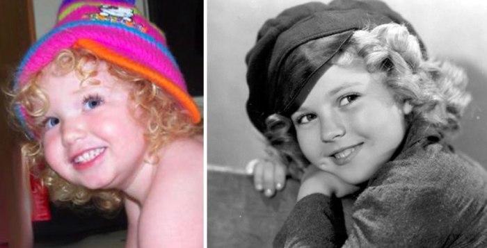 Morgan parece Shirley Temple