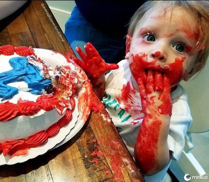 bolo de criança barramentos
