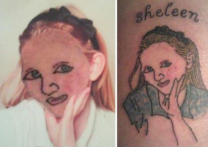 pior tatuagem rosto troca 17