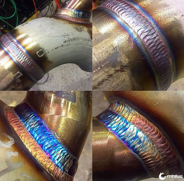 quatro tubos soldaduras
