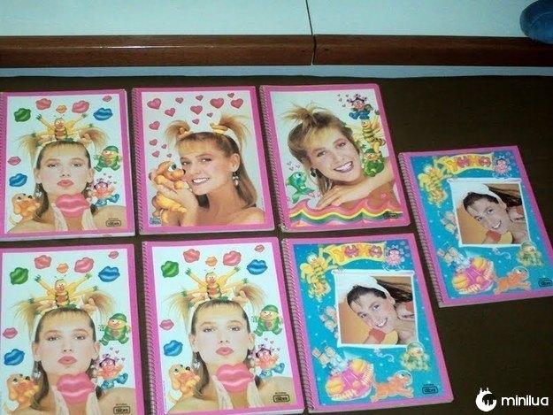 A não ser, claro, que você tivesse um caderno superlegal, como este da Xuxa.