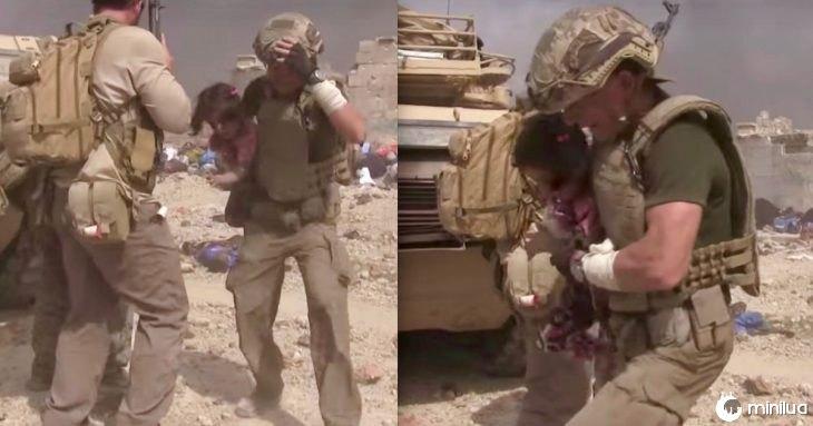 soldado e menina