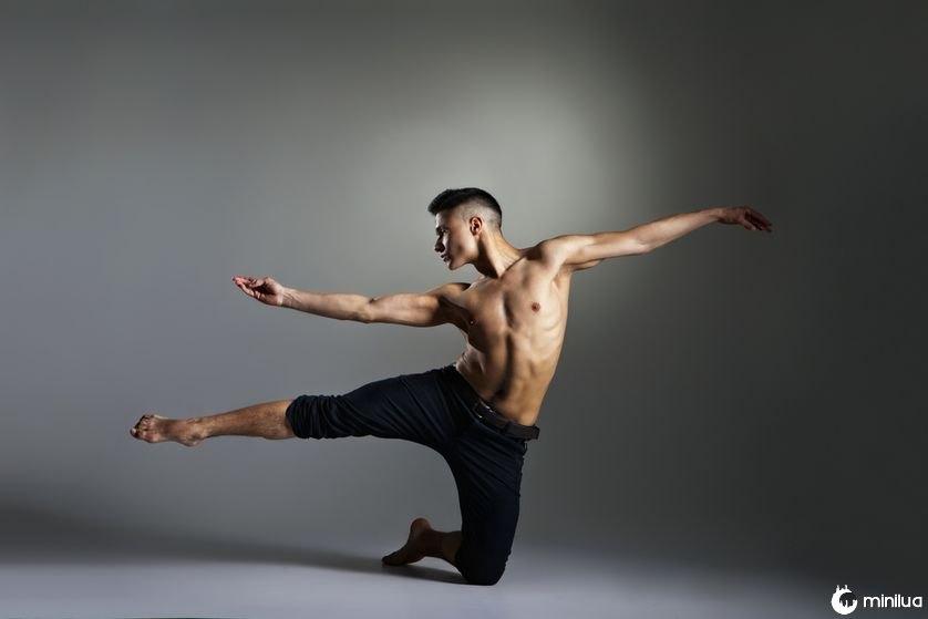 Dançarino de balé moderno