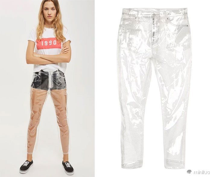See-Through Plastic Jeans