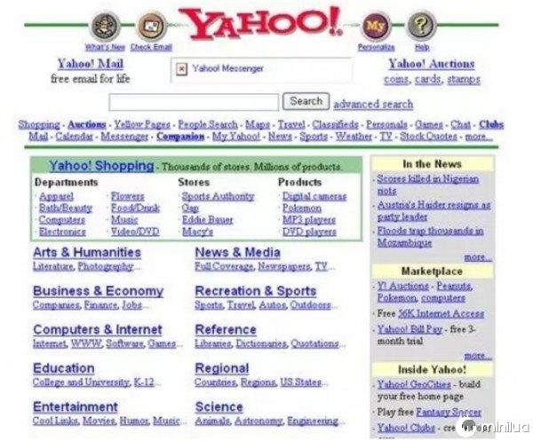 home page do Yahoo