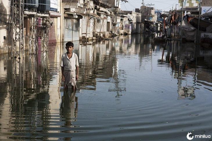 Inundación por cambio climático