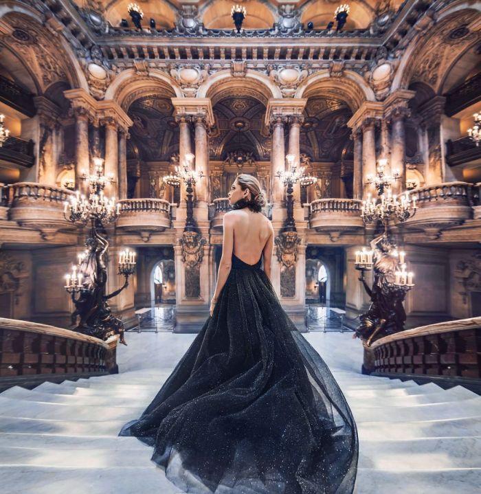 Opéra De Paris, Palais Garnier, Paris, France. Model: Vera Brezhneva