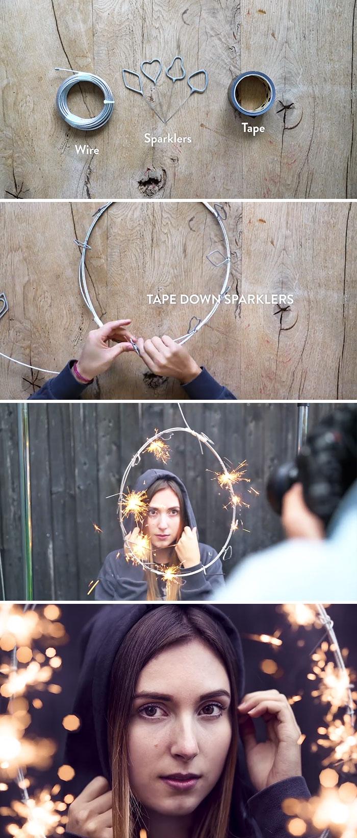 Crie um anel de fogo espumante