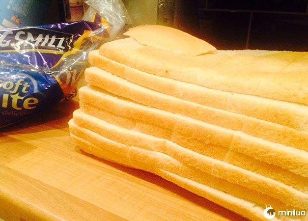 O meu pedaço de pão foi cortado no caminho errado