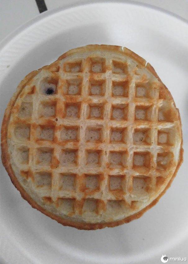 Esta Waffle de mirtilo