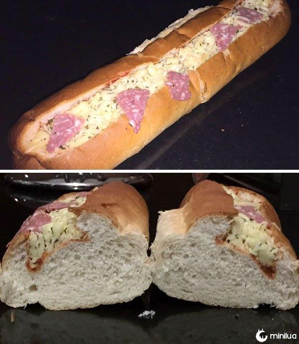 O sub comprado para o jantar hoje à noite