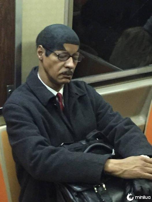 curiosas imagens no Metro