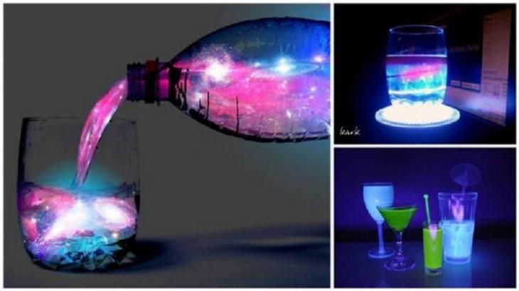 Imagem com diferentes doses de cocktail brilhante bebe Aurora