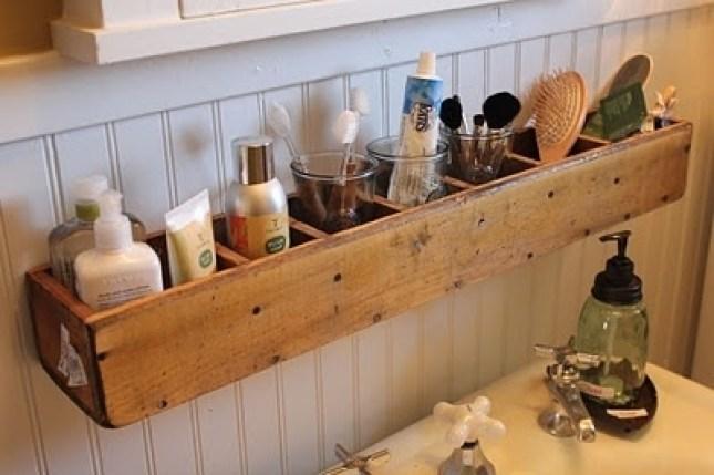 Produtos de Higiene Pessoal organizador de feito de madeira