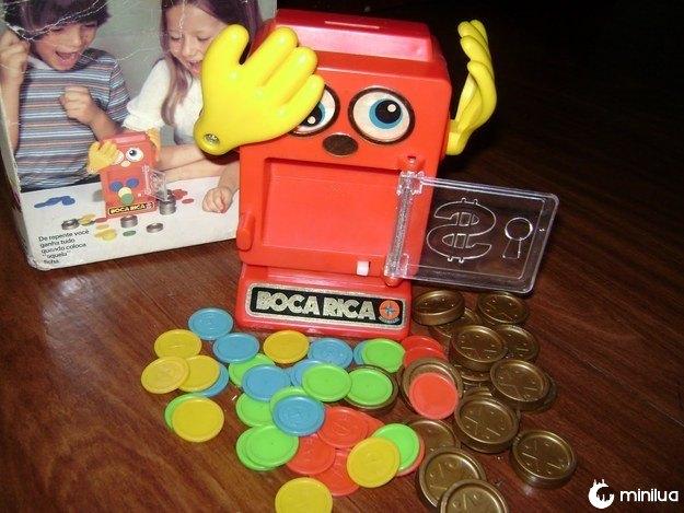 O Boca Rica, que, pensando bem, passava uma mensagem esquisita: não se pode poupar muito, crianças.