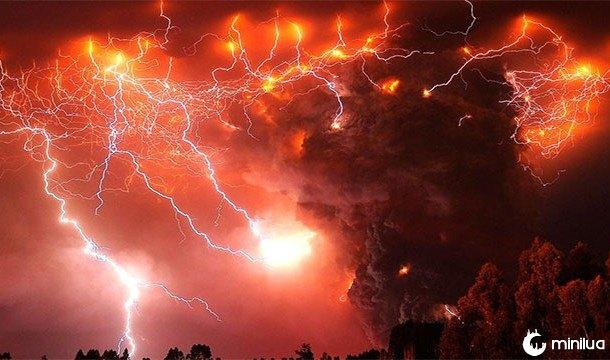 raios vulcanicos