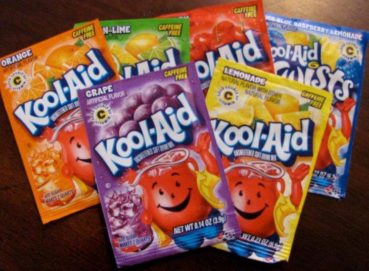 Envelopes Kool-aid de diferentes sabores