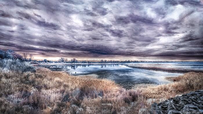 Um lago dentro da zona de exclusão de Chernobyl