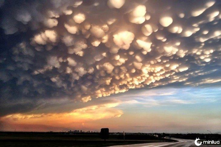 nuvens que parecem pipoca