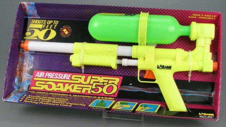 Pistola de água Super Soaker