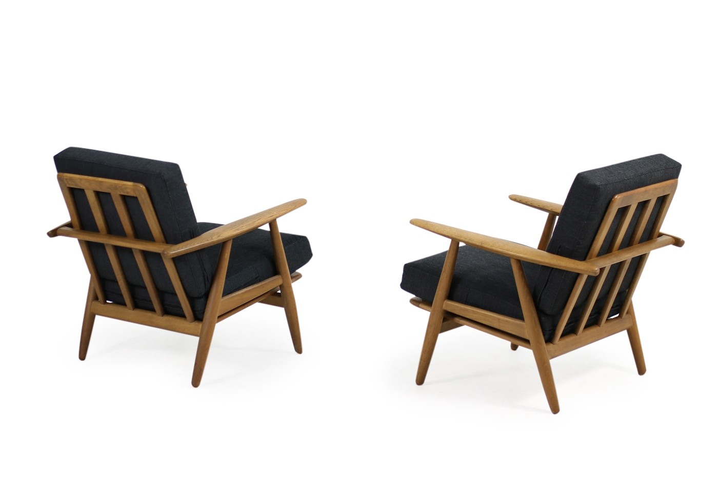 Cigar Lounge Chairs 1950s Hans J Wegner Ge 240 Oak Cigar Easy Lounge Chairs