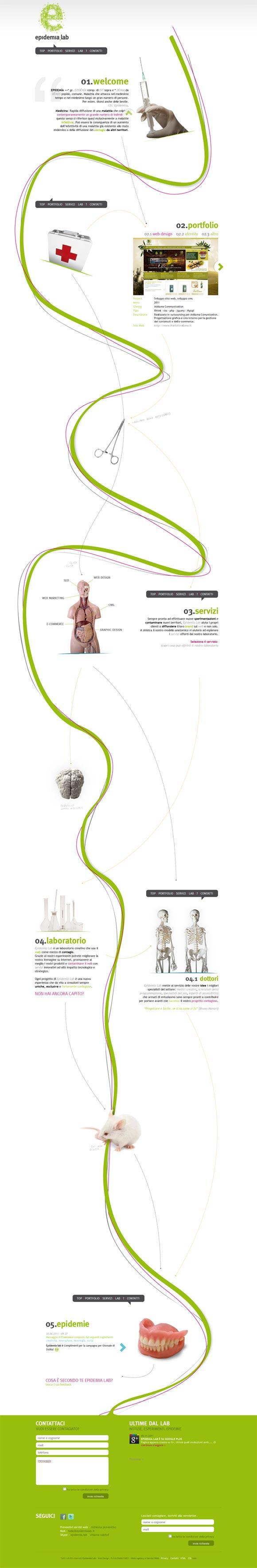 Epidemia Lab | Web Design