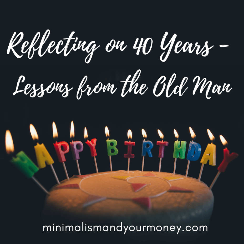 Reflecting on 40 years - words of advice from the old man