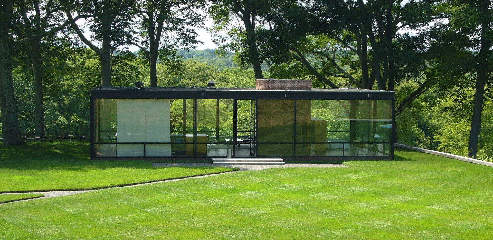 Arquitectura minimalista la Casa de Vidrio de Philip Johnson  Minimalismo XYZ