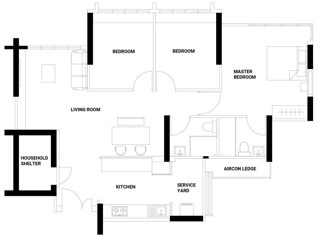 hight resolution of ghim moh floorplan