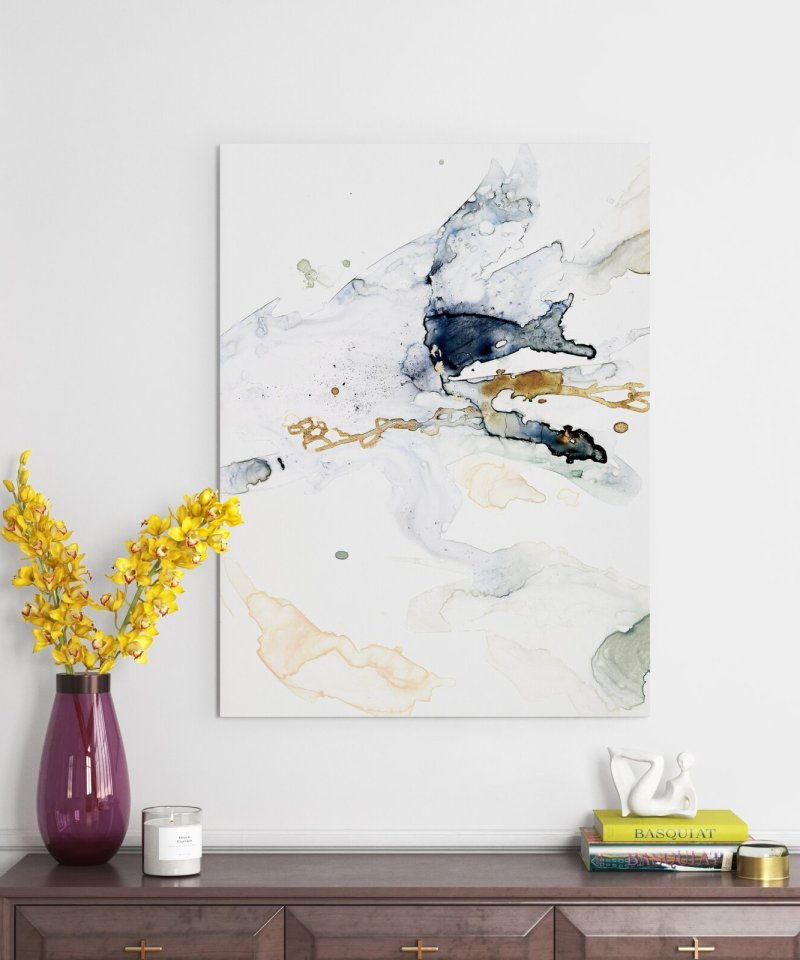Organic Interlace II - Picture Frame Painting on Canvas